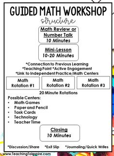 How I Teach Math in Grade - Teaching with Jennifer Findley This post breaks down how one teacher teaches math in grade and how her weekly math instruction is structured, including the math resources needed. 3rd Grade Classroom, Math Classroom, Classroom Ideas, Future Classroom, Math Rotations, Numeracy, Math Centers, Guided Math Stations, Fifth Grade Math