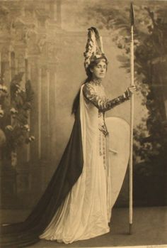 Mrs Reginald Talbot as Valkyrie; the Duchess of Devonshire's Jubilee Costume Ball of 1897