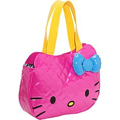 Loungefly Hello Kitty Neon Patent Face Bag - Pink/Multi - via eBags.com!