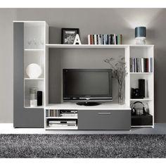 Meuble TV mural Pilvi 220cm coloris blanc Finlandek - Meubles à bon prix – MonCornerDECO