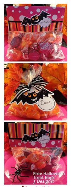 Free Halloween Printable Treat bag toppers