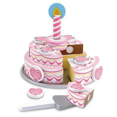 Melissa & Doug Triple-Layer Party Cake Wooden Play Food