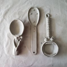 I wish these whimsical spoons were for sale! I'd love to have one displayed in the kitchen.