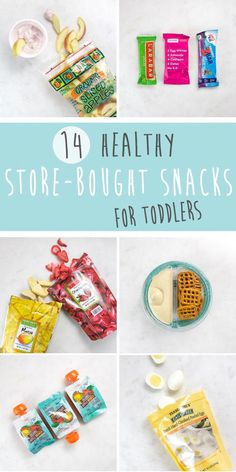 These 14 Healthy Store-Bought Snacks for Toddlers are ready-to-eat items for on-the-go snacking. Perfect for when you don't have time to DIY, and to satisfy your picky eaters. You'll find the perfect snack or finger food for kids of all ages! Baby Snacks, Healthy Toddler Snacks, Toddler Meals, Healthy Kids, Toddler Food, Baby Foods, Keto Snacks, Healthy Meals For Toddlers, Food For Toddlers
