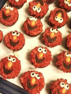 Hey Elmo Cupcakes