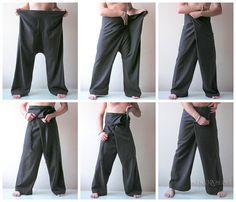 Thai Fisherman Pants Yoga Pants Sky Dark Navy Men / Women