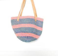 Vintage Jute Straw Market Bag from Kenya by redpoppyvintageshop, $38.00