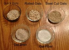 Difference between Oat Fiber & Oat Bran & Oat Flour... All are different things! Yes, they are!