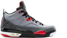 more photos cb5da b7bca Jordan Son Of Mars Low 2013 - Chaussure Nike Jordan Officiel Baskets Pas  Cher Pour Homme Gris Noir