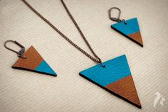 Simplicity Leather Set of Pendant and Earrings £20.00