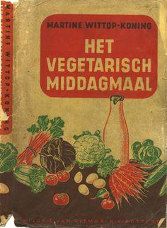 Het vegetarisch middagmaal - The vegetarian lunch - Vintage book cover