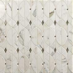 Artistic Tile Valencia Lucido Water Jet Mosaic Vetromarmi Collection Marble Floor Tiles