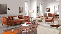 Focus Chester Koltuk Takımı Sofa Furniture, Luxury Furniture, Furniture Design, Gray Sofa, Living Room Modern, Sofa Design, Sofas, Couch, Wood