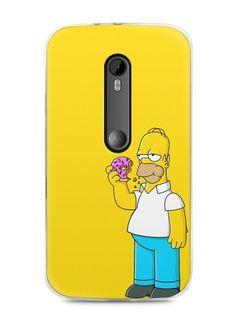 Capa Moto G3 Homer Simpson Comendo Donut - SmartCases - Acessórios para celulares e tablets :)