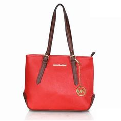 37272fc39dbf Michael Kors Logo Medium Red Totes Are High Quality And Cheap Price!
