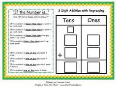 2 Digit Addition with Regrouping Song/ Center