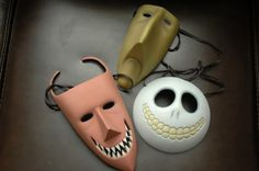 NIGHTMARE BEFORE CHRISTMAS LOCK SHOCK AND BARREL FULL SIZE MASKS | eBay