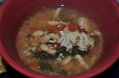 Meals For Real: Crockpot Chicken Spinach Soup (maybe prep it and freeze? need to try...)