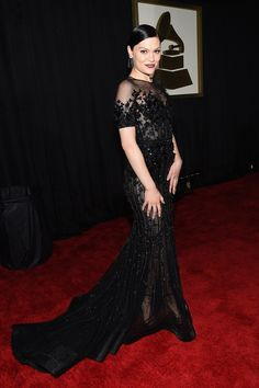 Jessie J arrives at the 57th Annual GRAMMY Awards on Feb. 8 in Los Angeles
