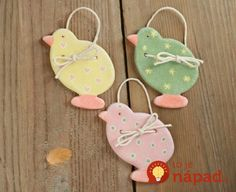 Items similar to Easter Chicks Salt Dough Ornaments, Tree Ornaments, Easter or Spring decorations, Easter gift,Childrens room pastel decorations.Party favors on Etsy Easter Chicks Salt Dough Ornaments Tree Ornaments by BRsaltycandy Salt Dough Christmas Ornaments, Clay Ornaments, How To Make Ornaments, Homemade Ornaments, Felt Christmas, Homemade Christmas, Christmas Crafts, Salt Dough Projects, Salt Dough Crafts