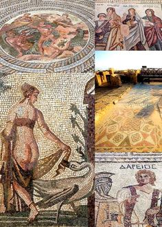 Mosaics of Paphos Archaeological Site, Cyprus