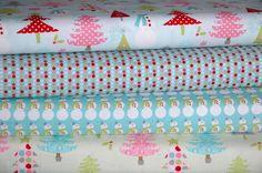 """Christmas Basics Blue"" - Christmas Fabric Bundle by Riley Blake £13.00 @ www.elephantinmyhandbag.com - Fabric, Ribbon & other Scrummy Whatnots x"