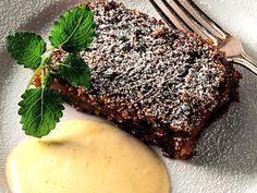 Skånsk äppelkaka med kall vaniljsås