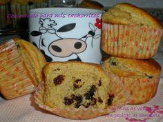 Muffins de vainilla y pepitas de chocolate ~ Cocinando para mis cachorritos