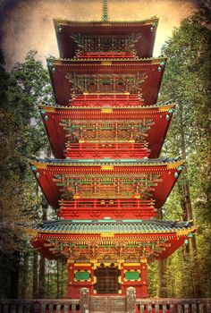 Five-story pagoda - Nikko Tosho-gu Shinto, Nikko, Tochigi, Japan