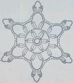 Crochet Jewelry Patterns, Crochet Snowflake Pattern, Crochet Stars, Crochet Snowflakes, Crochet Mandala, Knit Or Crochet, Crochet Motif, Crochet Doilies, Crochet Stitches