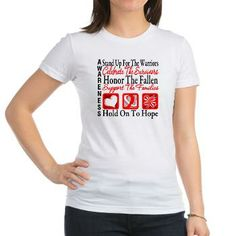 Aplastic Anemia Stand Up For The Warriors, Celebrate The Survivors, Honor The Fallen, Support The Families and Hold Onto Hope shirts by gifts4awareness.com #aplasticanemia #aplasticanemiaawareness #aplasticanemiashirts