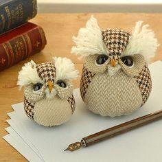 Handmade paperweight owl