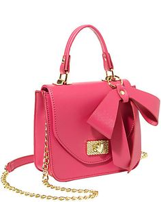 Betsey Johnson Sugar and Spice Top Handle Satchel in Fuschia <3