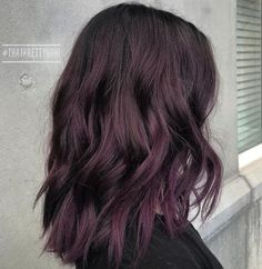 Subtle Black Purple Hair Hair 45 Shades of Burgundy Hair: Dark Burgundy, Maroon, Burgundy with Red, Purple and Brown Highlights Ombre Hair Color, Cool Hair Color, Subtle Hair Color, Darker Hair Color Ideas, Level 4 Hair Color, Dark Hair With Color, Dark Fall Hair Colors, Hair Color Black, Edgy Hair Colors