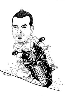 Caricatura Motorista Moto Suzuki 600R/ Caricature for a motorbike rider. Con su Suzuki 600R. Entintada originalmente en A3. Original ink on A3.  Quieres una caricatura? Contáctanos! Want a caricature? Tell us!   MAIL albert@albertllort.com   WEBSITE www.albertllort.com/designstudio.html   VIEW GALLERY www.flickr.com/photos/56294486@N04/sets/72157629696650868/