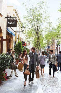 Shopping village in Madrid