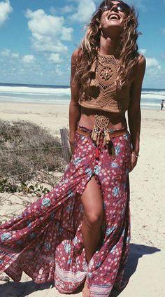 Boho chic bohemian boho style hippy hippie chic bohme vibe gypsy fashion indie folk the 70s .