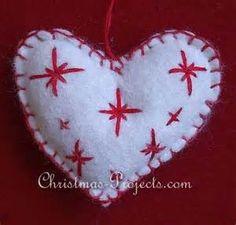 Stitched Felt Scandinavian Heart