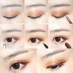 Subtle brown look with brown mascara