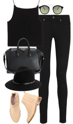 inspired outfit with Saint Laurent jeans by whathayleywore featuring black skinny jeans #ParisianPassion