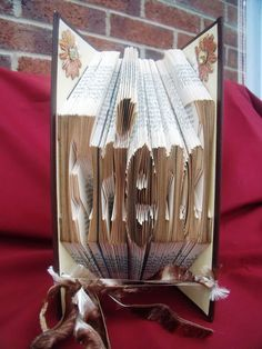 Folded Book Art - Unique Gift - Birthday Gift - Friend by CreationsByMEx on Etsy