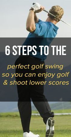To get good at golf and find your own perfect golf swing you need to understand the fundamentals. Learn 6 steps to the perfect golf swing so you can enjoy golf more and lower your scores. How To Build A Repeatable Golf Swing Ladies Golf Clubs, Best Golf Clubs, Famous Golfers, Womens Golf Wear, Golf Bags For Sale, Perfect Golf, Perfect Lady, Golf Exercises, Golf Tips For Beginners