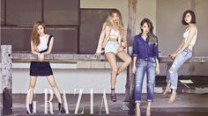 Wonder Girls Look Stunning With Vivid Lips in Grazia Pictorial