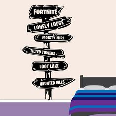 Fortnite 3d Smashed Wall Sticker Decal Home Decor Art