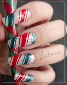 NAILS. Christmas / Winter Ideas  ⇨ Follow City Girl at link https://www.pinterest.com/citygirlpideas/ for great pins and recipes!  ☕