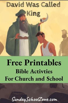 These David printables and activities explore David's life as King of Israel.