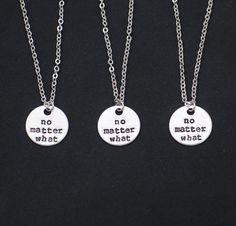 3 best friends necklaces no matter what necklace by vespestudio