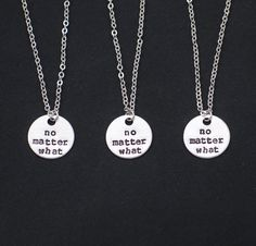 3 best friends necklaces no matter what necklace by vespestudio