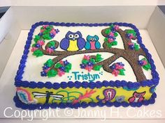 Owl cake Janny H. Cakes  www.facebook.com/jannyh.cakes