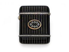 An Enamel and Diamond Vesta Case, Faberge « Dupuis Fine Jewellery Auctioneers